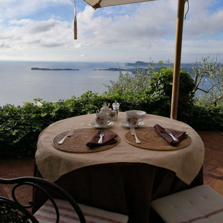 Perfect Lake Garda Getaway - Beautiful breakfast view from Dimora Bolsone's terrace