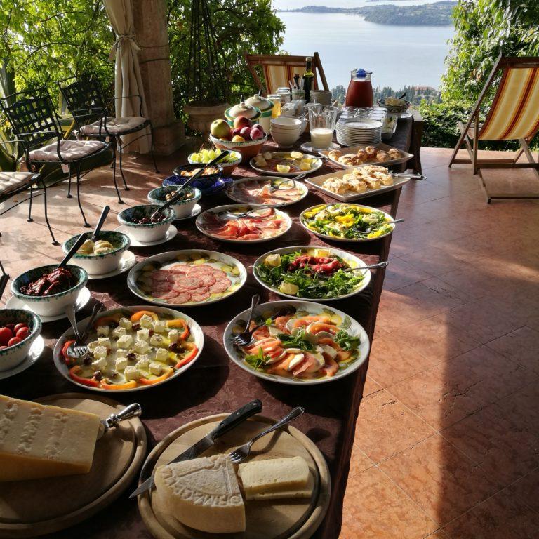 Delicious selection for breakfast at Dimora Bolsone - Small hotels in Lake Garda