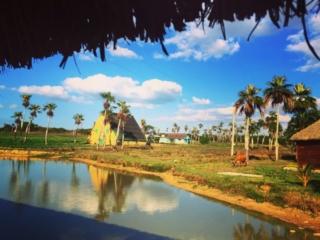 Beautiful roadside stop off on the bus from Havana to Viñales, Cuba