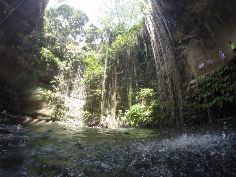 Ik Kil Cenote, near Chichen Irza, Mexico - Yucatan Road Trip