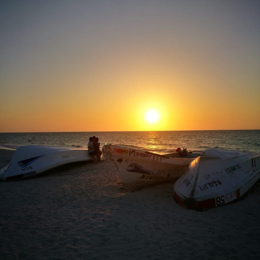 Stunning sunsets on Celestún beach, Mexico