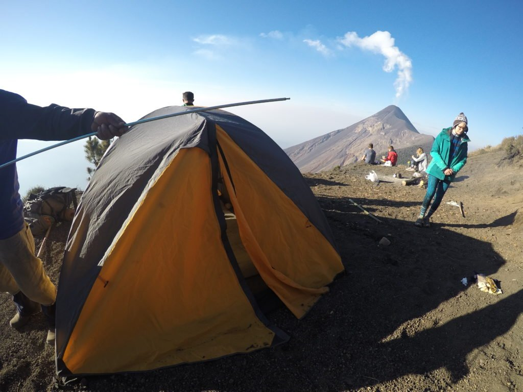 Our campsite on the Volcan de Acatenango hike, near Antigua, Guatemala