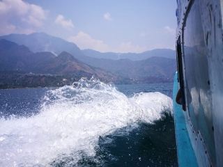 Taking the ferry over to San Marcos from San Pedro La Laguna - Things to do on Lake Atitlan, Guatemala
