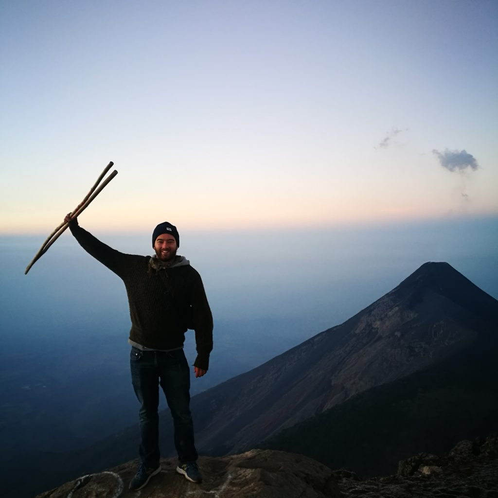 Just taking it all in at the top of Volcano Acatenago