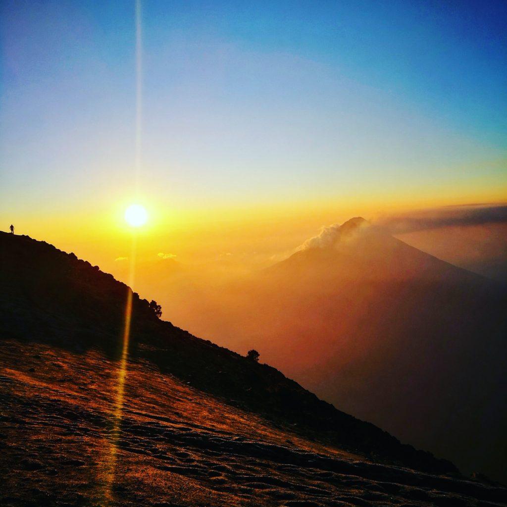 The most incredible sunrise after hiking Acatenango, Guatemala
