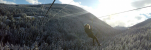 Zip Trekking in Whistler - Flying like an eagle on Ziptrek Ecotours Eagle Tour, British Columbia, Canada