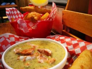 "Yummy chowder & fish n' chips at "" Big Daddy's"" - Tofino, Vancouver Island"