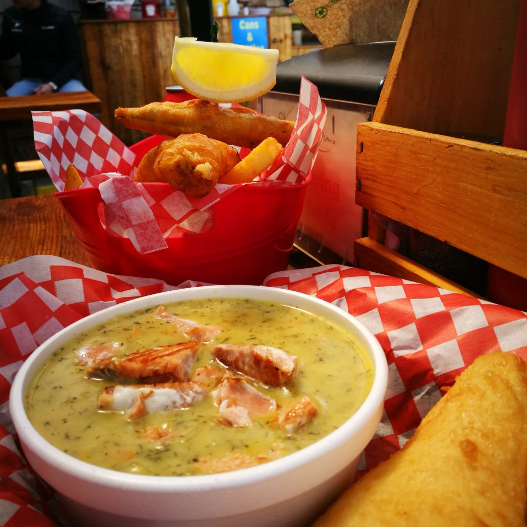 "Yummy chowder & fish n' chips at "" Big Daddy's"" - Tofino, Vancouver Island"