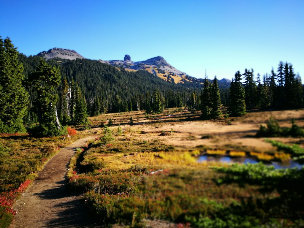 """Early morning views of """"Black Tusk"""" & the surrounding mountains - Hiking in Whistler, BC, Canada"""