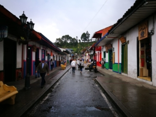 Wandering up Salento's main street, Colombia
