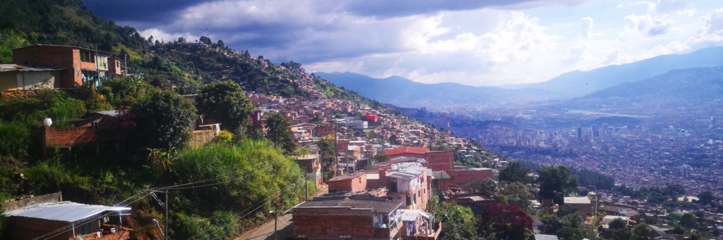 Destination Addict - Looking out over the barrios of Medellin, Colombia
