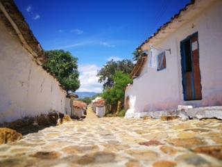 Destination Addict - White washed houses & cobbled streets in Guane, Camino Real, Colombia
