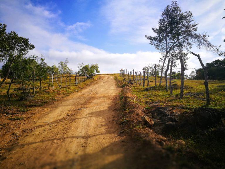 Early morning heading out of Villanueva, Hiking in Santander, El Camino Real, Colombia