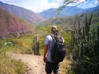 Walking down into the Canyon towards Jordan, Santander
