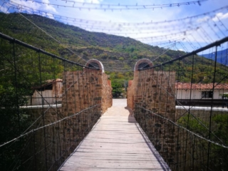 Looking back on the bridge leading up to Los Santos, on the last strech of the Camino Real