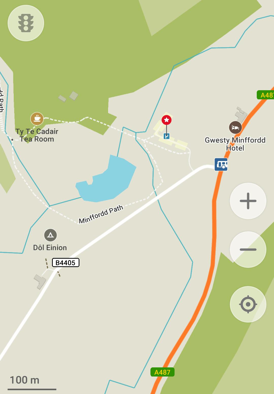 Minffordd Path car park location - Hiking Cadair Idris - Minffordd Path Route