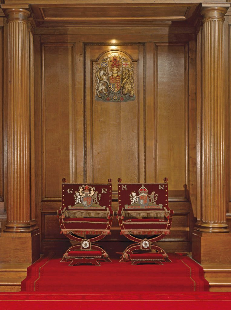 The Throne Room, The Palace at Holyroodhouse, Edinburgh. Credit - Royal Collection Trust / © Her Majesty Queen Elizabeth II 2018