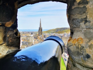 More stunning cannon views, Edinburgh Castle