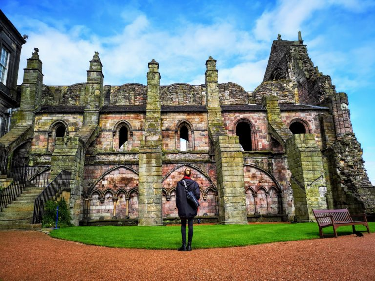 In awe of the beautiful Holyrood Abbey - Edinburgh In 24 Hours - An Awesome Intinerary!