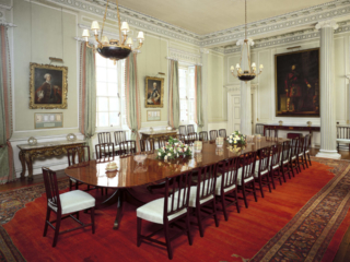 The Dining Room, The Palace at Holyroodhouse, Edinburgh. Credit - Royal Collection Trust / © Her Majesty Queen Elizabeth II 2018 - 24 Hours In Edinburgh.