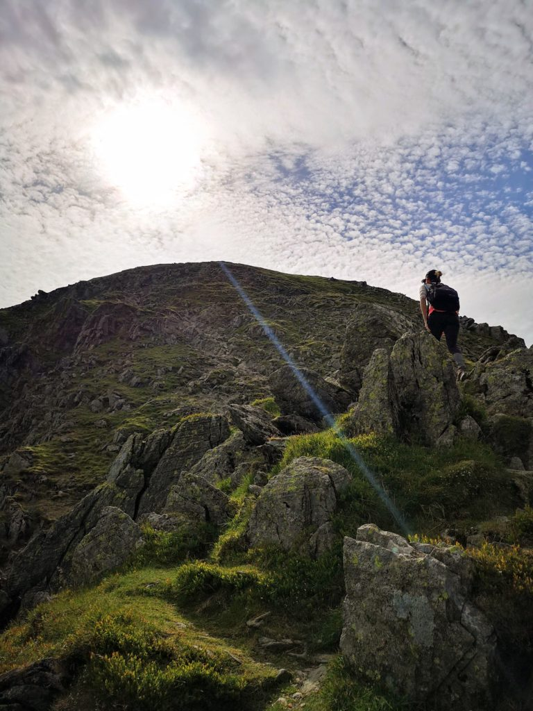 Making the final climb up to Helvellyn - Three peaks challenge,  Lake District - Destination Addict