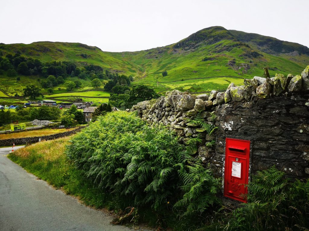 Coming out of the village of Glenridding - Three peaks challenge - Helvellyn, Lake District, UK