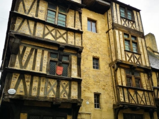 Admiring the medieval buildings of Bayeux France - Destination Addict