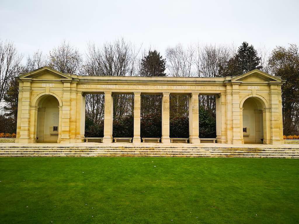 The Bayeux Memorial with  Latin epitaph, Bayeux France - Destination Addict