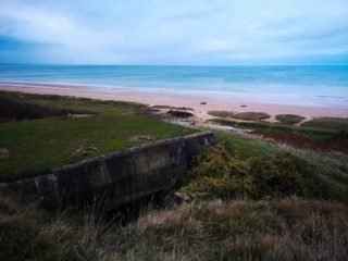 Looking over Omaha Beach, D-Day Landing site, near Bayeux France - Destination Addict