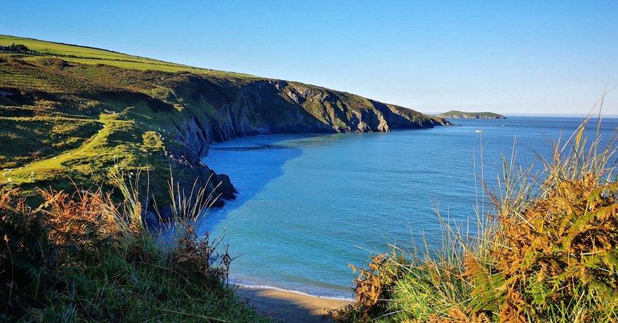 A view of Mwnt beach - Van Life UK - Destination Addict