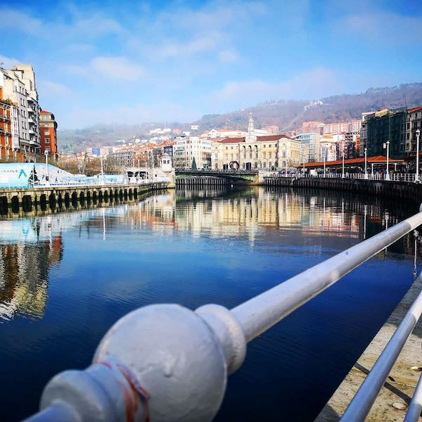 Why Visit Bilbao – Told Through Our Highlights - Looking out on the River Arenal, once the trading heart of Bilbao Old Town - Destination Addict