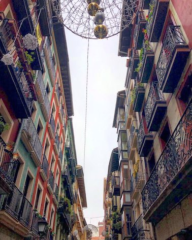 Why Visit Bilbao – Told Through Our Highlights - Looking up in the Old Town - Destination Addict