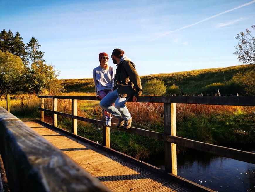 Taking a break walking down to the reservoir - Van Life UK - Destination Addict