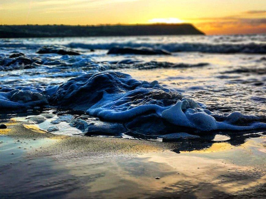 Sunset At Penbryn Beach - Van Life UK - Destination Addict