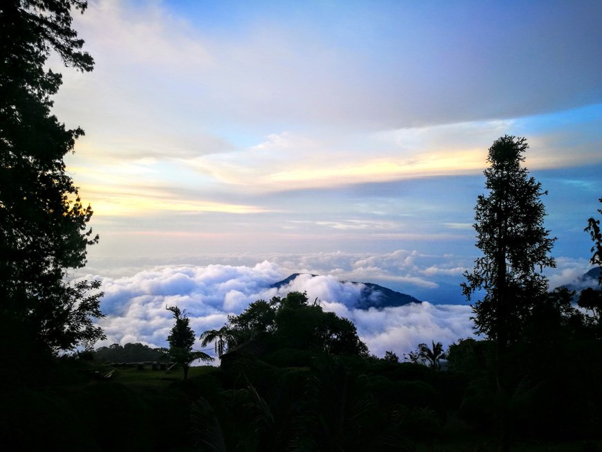 Above the clouds on our hike up to Cerro Kennedy in Minca, Colombia