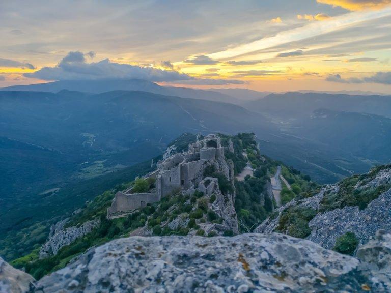Chateau de Peyrepertuse At Sunrise - Van Life Tips