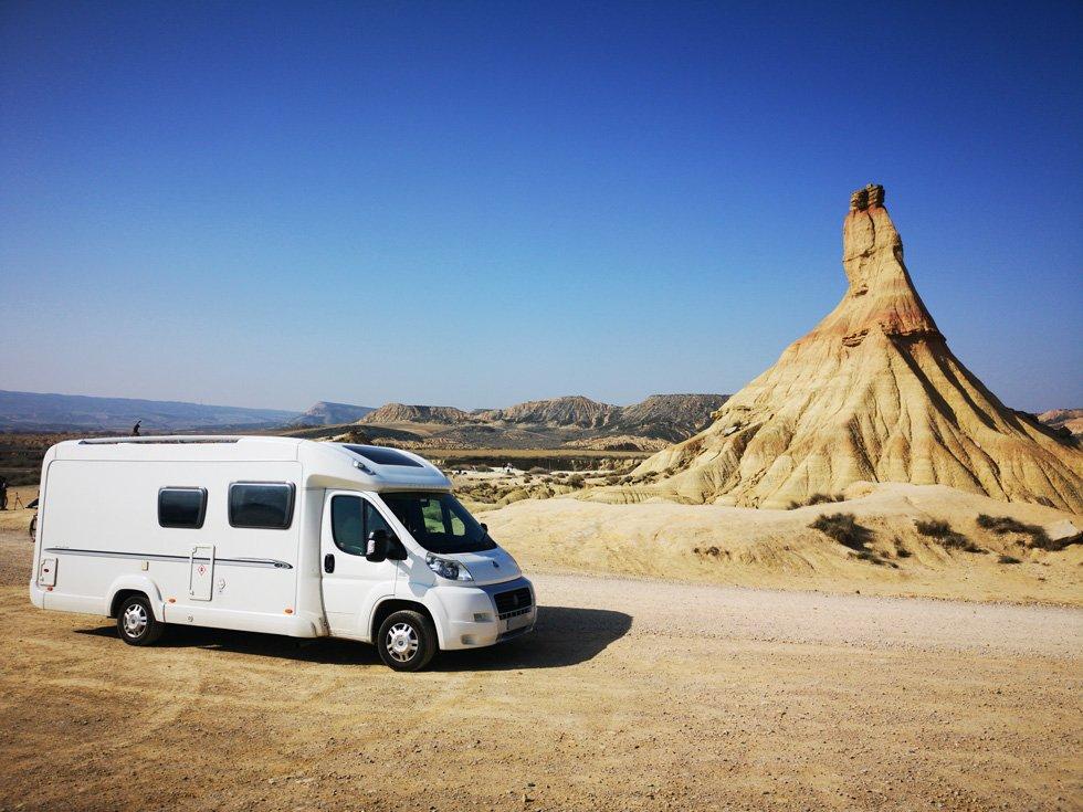 Driving Through The Bardenas Reales In Spain – Castil de Tierra