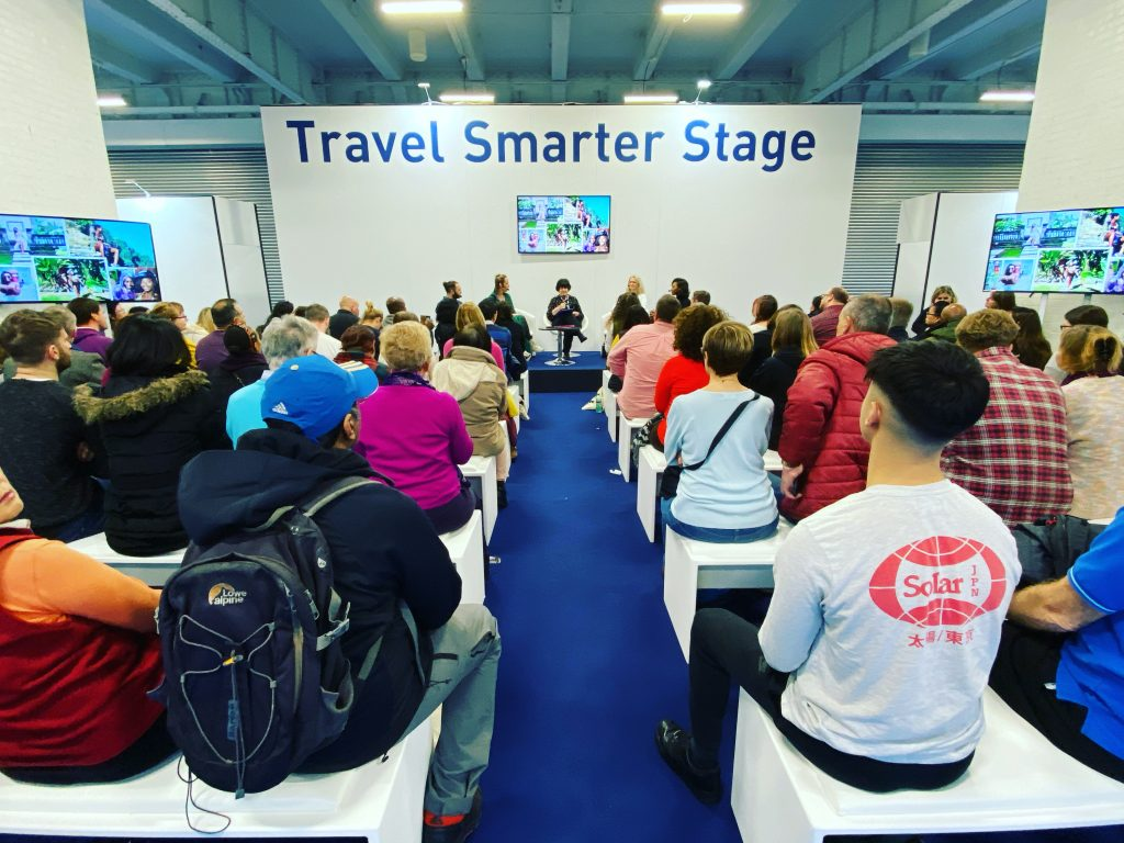 On Stage At Destination - The Holiday & Travel Show, London Chatting How To Start Life As A Digital Nomad